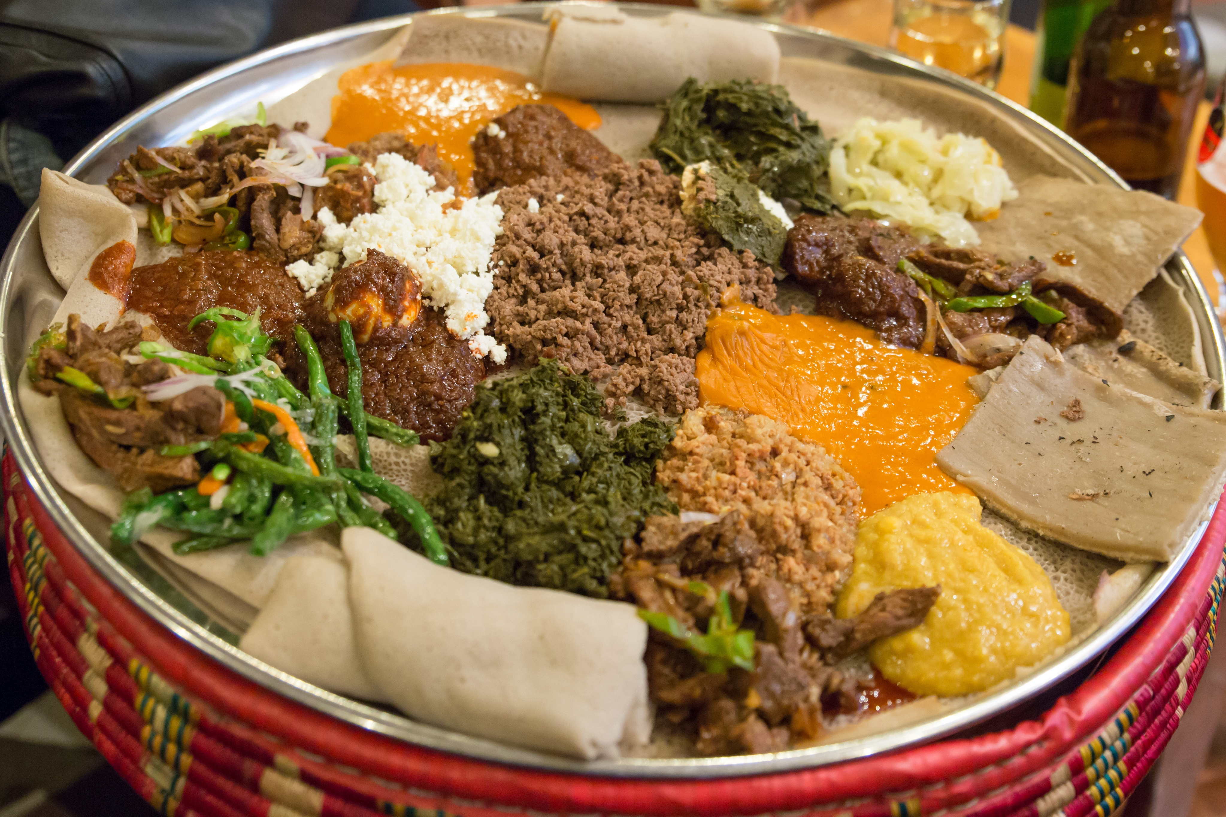Injera and an Ethiopian Meal